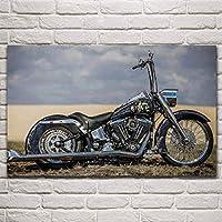チューニングバイクバイクファンアートリビングルームホームアート装飾壁装飾キャンバス生地ポスター50x80cm-フレームなし