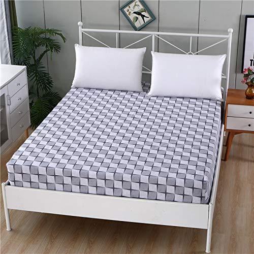 1 funda de colchón de 100% algodón, diseño de dibujos animados, cuatro esquinas con banda elástica para cama de hotel (color: 9, tamaño: 160 x 200 x 25 cm)