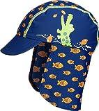 Playshoes UV-Schutz Mütze Krokodil Capo d'Abbigliamento, Blu (Marine 11, 51 Jungen