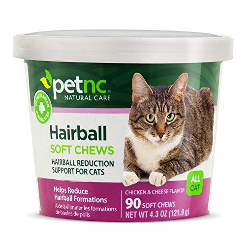 PetNC Natural Care Hairball Soft Chews for Cats, 90 Count