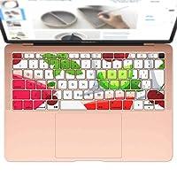 igsticker MacBook Air 13inch 2018 専用 キーボード用スキンシール キートップ ステッカー A1932 Apple マックブック エア ノートパソコン アクセサリー 保護 004122 ラブリー 果物 イラスト カラフル