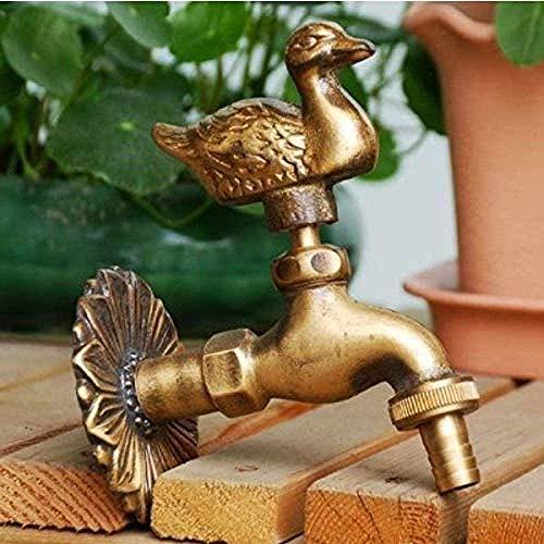 Robinet de jardin en forme d'animal de jardin en laiton antique vadrouille de lavage de canard/robinet d'animal d'arrosage de jardin