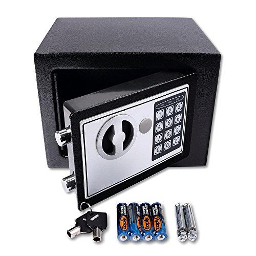 Schramm® Caja Fuerte electrónica 23x17x17cm Caja Fuerte de Muebles Caja Fuerte de Pared con Cerradura de combinación Digital
