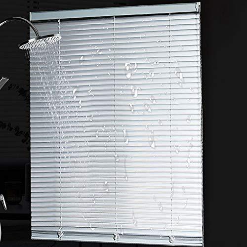 Veneziane Protezione della Privacy per Oscuramento della Camera da Letto delle Veneziane in Alluminio Impermeabile, Grigio, 60cm / 80cm / 100cm / 120cm / 140cm di Larghezza (Size : 120x220cm)