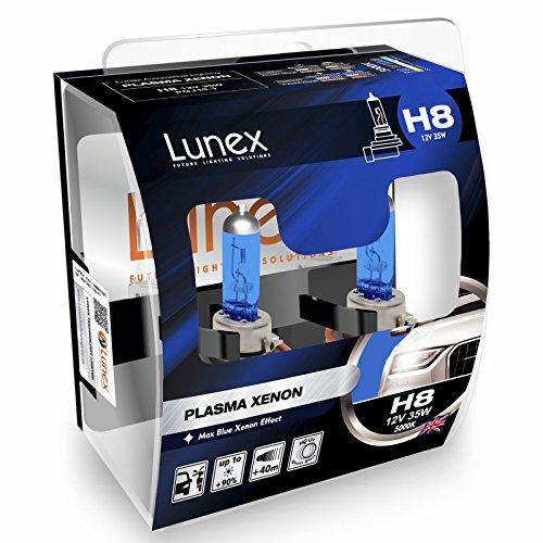 LUNEX H8 PLASMA XENON Ampoules Halogènes Phare Effet Xénon 12V 35W PGJ19-1 5000K duobox (2 pièces)