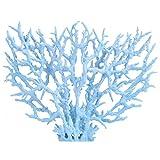 Hztyyier Planta artificial de plástico para decoración de peceras o acuarios (L-azul)