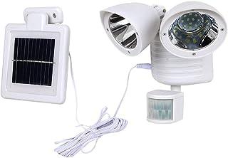 Perfk Solar 22 LED Security Light, Outdoor Motion Sensor Light, IP65 Waterproof - White, 7.28x5.71x5.71 inch