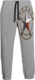 NTQFY Western Texas Star Men's Sweatpants Comfy Jogger Pants with Pockets Lightweight Athletic Pant