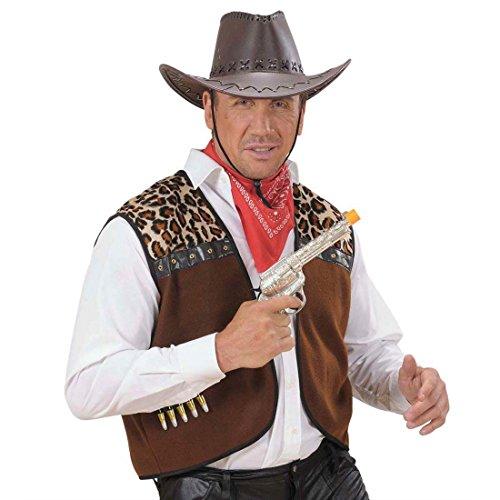 NET TOYS Rodéo Chapeau de Western Cow-Boy Chapeau Brun Chapeau de Cow-Boy Chapeau d'homme Mardi Gras Carnaval