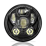 SUNPIE Motorcycle 5-3/4 5.75 LED Headlight for Harley Davidson 883,sportster,triple,low rider,wide glide Headlamp Projector Driving Light