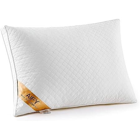 AIFY 枕 ホテル仕様 柔らかい まくら 寝心地良い枕 横向き対応 安眠枕 丸洗い可能 立体構造 43×63cm ホワイト