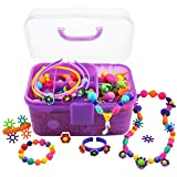 POMIKU Pop Beads, Jewelry Making Craft Kit for Age 4, 5, 6 Year Old Girls Toy Gift, Kids Bracelet Necklace (530Pcs)