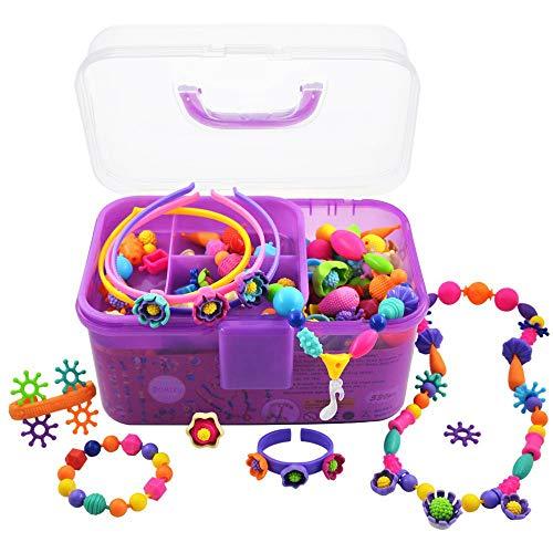 POMIKU Pop Beads, Jewelry Making Craft Kit for Age 4, 5, 6 Year Old Girls Toy Gift, Kids Bracelet Necklace (530Pcs)