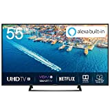 Hisense H55BE7200 Smart TV LED Ultra HD 4K 55', HDR10, Dolby DTS, Single Stand Slim Design, Tuner DVB-T2/S2 HEVC Main10 [Esclusiva Amazon - 2019]