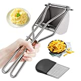 Potato Ricer, Stainless Steel Manual Masher Squeezer for Potatoes, Fruits, Vegetables, Yams, Squash, Creamy Mashed,Food Recipes,Baby Food, Easy To Use