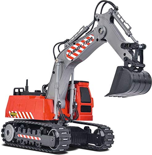 RC Baufahrzeug kaufen Baufahrzeug Bild 1: Carson Modellsport Raupenbagger 1:26 RC Einsteiger Funktionsmodell Baufahrzeug inkl. Akku, Ladegerä*