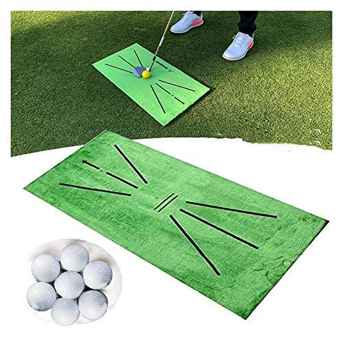 Alfombrilla De Golf Capacitación de golf al aire libre Swing Mat Batting Golffer Jardín Practición Práctica Equipo de entrenamiento de malla Ayuda Cojín Herramienta de golf Mat Golf ( Color : A )