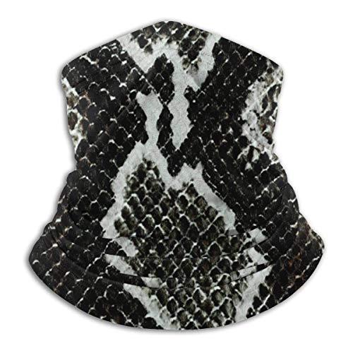 ShiHaiYunBai Tour de Cou Cagoule Microfibre Chapeaux Tube Masque Visage, Fleece Neck Gaiter, Black Snake Print Reversible Ear Headband Ultimate Thermal Retention Versatility for Womens