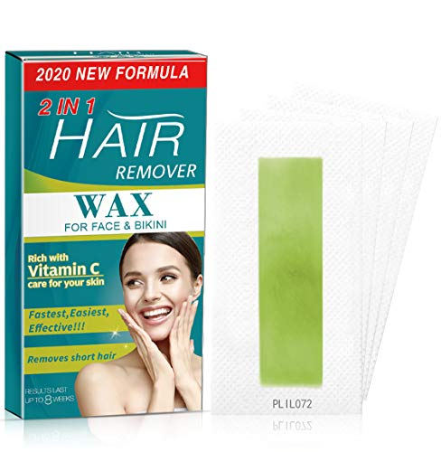 72 Strips Wax Strips, Facial Hair Removal for Women, cheek, Upper lip, Chin, Eyebrow, Effectively Reducing hair regrowth