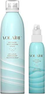 Volaire – Air Magic & Uplift Mist Kit – with Volumizing Mist (6 oz) and Texturizing Spray (10.1oz) – Heat protectants and Revives limp locks– 2 Piece Kit (Full)