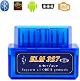 Elm327 Wireless Bluetooth OBD2 / OBDII Diagnostic Car Scanner & Reader Tool for Android Devices - Read/Clear Your Check Engine Light & Much More V1.5