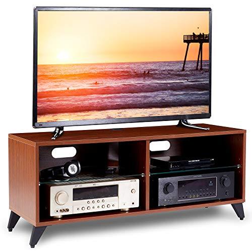 RFIVER Mueble TV Mesa para Televisión de Madera para Salon Dormitorio 110x40x46 de Color Nogal TS4002