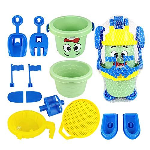 Beach Toys Set for Kids, Summer Children's Beach Toys Gemonteerd Shape Play Sand Paddling Suit Emmer van het strand Gemonteerd Outdoor Toys