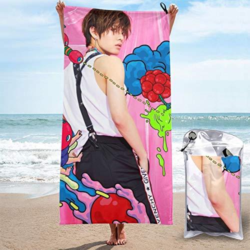 Toalla de secado rápido N-Ct 127 Yuta toallas de microfibra absorbentes ligeras y portátiles toalla de baño para acampar/deportes/viajes/fitness 31.5 x 63 pulgadas