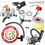 Carbole GX160 Carburetor + Ignition Coil+ Recoil Starter + Air Filter Tune Up Kit for Honda GX168 GX200 GX140 GX 160 forReference Part Number 30500-ZL8-004 30500-ZL8-014 30500-Z0J-003 30500-Z0J-004