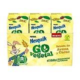 Nesquik Go Batido de Avena y Cacao 3x180 ml - Pack de 8 - Total: 8x3x180 ml