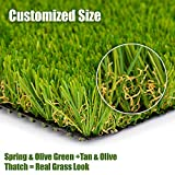 SMARTLAWN Professional Realistic Artificial Grass Rug, Carpets for Indoor and Outdoor Use, 6.5'X9'(58 SFT) 1.25' Pile Height Soft and Lush Natural Looking Synthetic Mats