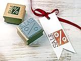 Stempel SALE Prozent Rabattstempel Preisstempel für Verkäufer