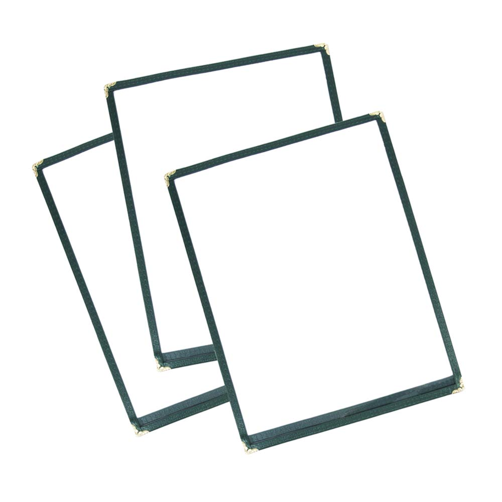 30 Pack Single Menu A surprise price is realized Covers Green Insert 11-inches x outlet 2 8.5 V