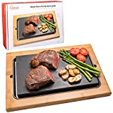 Cooking Stone- Extra Large Lava Hot Stone Tabletop Grill Cooking Platter and Cold Lava Rock Hibachi...