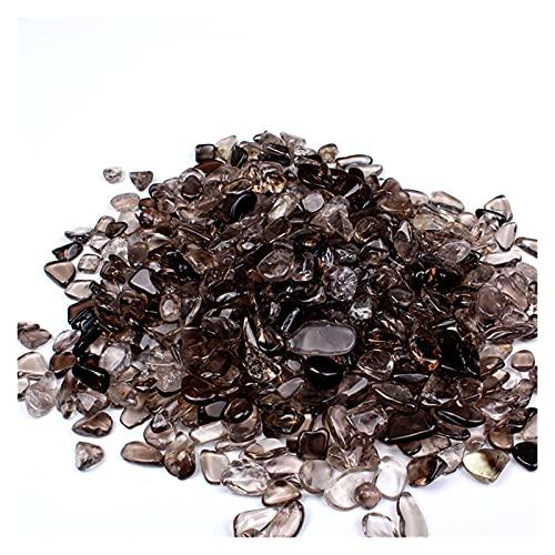 Cristal áspero Cuarzo ahumado cayó piedras de cedido de cristal natural gemas triturados curativo gemas de gemas de las piedras preciosas de las piedras preciosas artesanales de la decoración del hoga