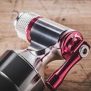 CO2inflador por PRO–Herramienta de bicicleta rápido y fácil–Válvula presta y schrader Compatible–Bomba para neumáticos de bicicleta para carretera y bicicletas de montaña–Cartuchos de CO2de metal recipiente de almacenamiento–No Incluido