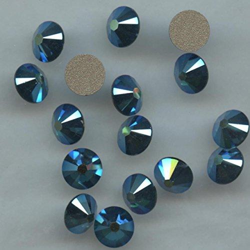 2058SS30EX * * * 15cristales Swarovski, fondo plano no Hotfix 6,4mm Emerald...