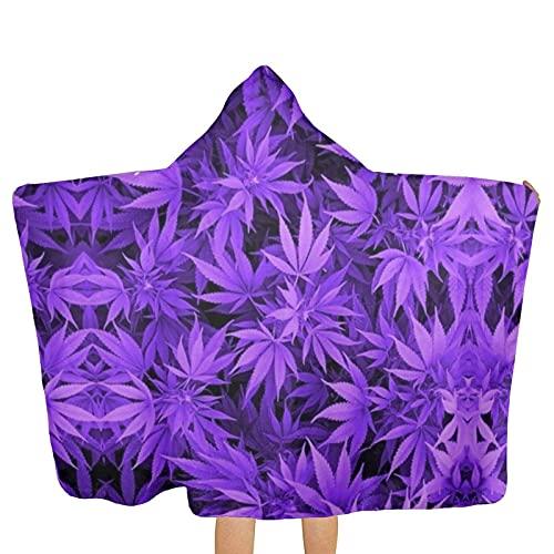 VVSADEB Marihuana Weed Leaf - Toallas con capucha para niños, ultra suaves, extra grandes, de secado rápido, toallas de baño con capucha para niños y niñas (tamaño único)