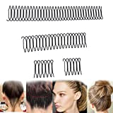1Set U Shape Hair Finishing Fixer Comb, Mini Bangs Holder Styling Tool,Women and Girls Hairstyle Hair Accessories