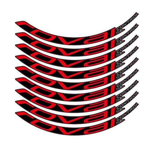 HUANGRONG Motorrad-Aufkleber Fahrradaufkleber Mountainbike Roval Control SL29 Zoll 25mm Breite Felgenradsatz Farbaufkleber MTB Rim-Abziehbilder Felgen-Aufkleber (Color : Rot)