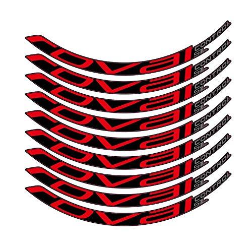 Pegatinas de bicicleta Bicicleta de montaña Control Roval SL29 pulgadas 25 mm Ancho Ancho Conjunto de ruedas Color Pegatina MTB Calcomanías de RIM (Color : Rojo)