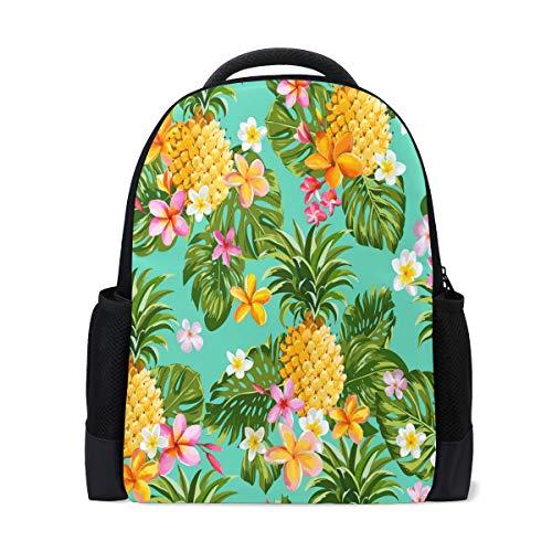 Tropische Ananas Reiserucksack, Laptoprucksack, Schule, Büchertasche, Obstpflanze, legerer Tagesrucksack, Outdoor, Business, Wandern, Camping, Schultertaschen für Studenten, Damen, Herren
