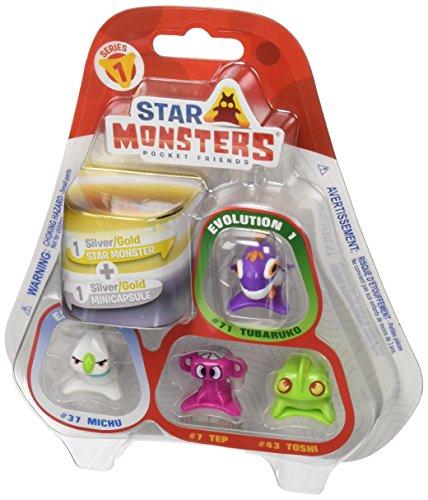 Star Monsters – Série 1 – Pack 5 mini Figurines – Modèle Aléatoire