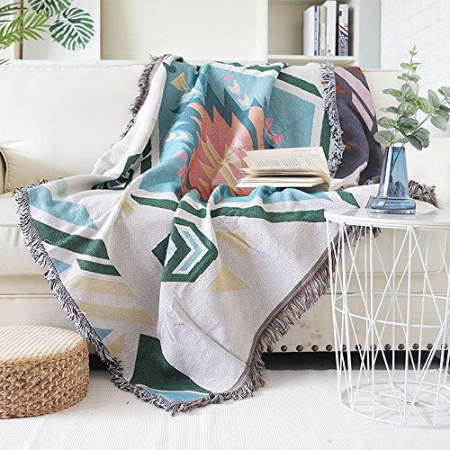 MYYINGELE Weich Überwurf-Decke, Baumwolle Tagesdecken Single Vintage American Style Blumenmuster Patchwork Quilts Schlafsofa wirft Decken Angenehm, A, 130 * 160cm