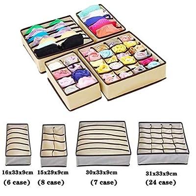 4 Pack Closet Underwear Organizer Drawer Divide...