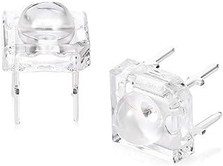 REFURBISHHOUSE 2 x Bombilla Lampara Luz Intermitente Marcador Lateral LED Pirana Remolque para Camion Coche Ambar