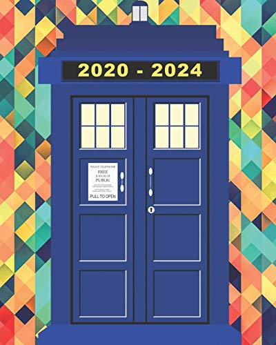 2020-2024 Five Year Planner Tardis Notebook Journal: Monthly Calendar Journal
