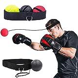 XYDZ Boxtraining Ball, Home Boxen Training Ball, 3 Schwierigkeitsgrad Reflex Fightball, Punch Boxing Ball mit Kopfband,Reflex Speed Training Boxen