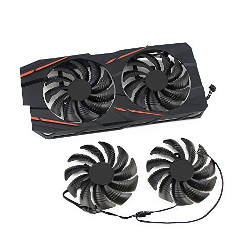 Cavabien 88MM Fan T129215SU TPLD9210S12HH 4Pin Cooling Fan for Gigabyte GTX 1050 1060 1070 960 RX 470 480 570 580 Graphics Card Cooler (FanAA)
