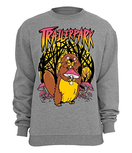 Trailerpark Sweater Biber, Farbe:grau, Größe:S